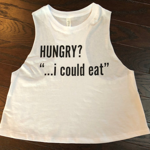 Hungry? I could eat. {Cropped Tank Top}