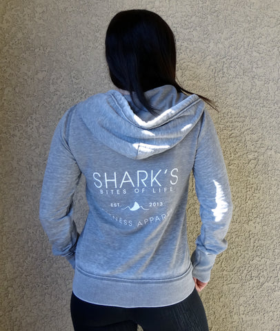 Shark's Bites of Life {Zip up Hoodie}