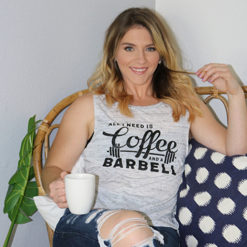 Coffee and Barbells {Muscle Tank}