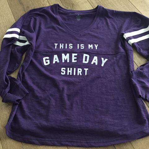 Minnesota vikings game day shirt, purple skol apparel