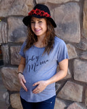 New mom shirt, Baby mama tee, maternity baby mama shirt, dolman shirt for mom
