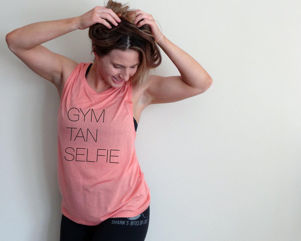 Gym Tan Selfie {Muscle Tank Top}
