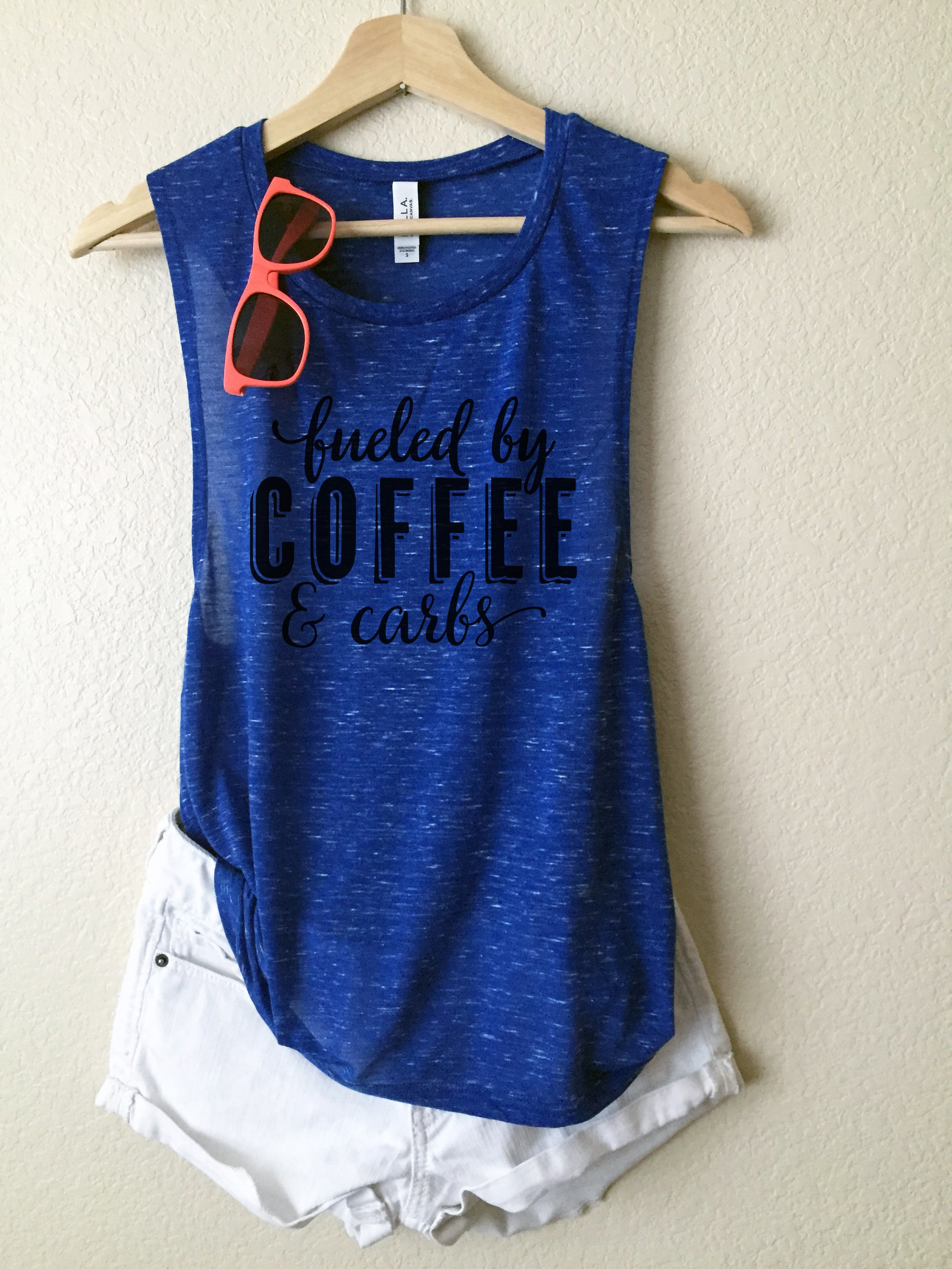 Fueled by coffee and carbs {Muscle Tank}