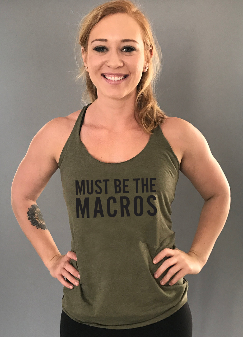 Must be the Macros {racerback tank top}