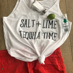 Salt Lime Tequila Time {Tank Top}