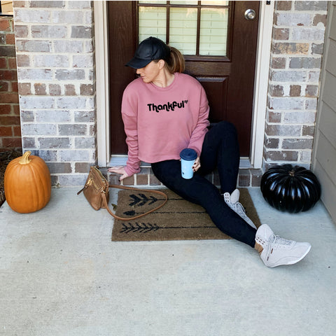 Thankful AF {Crop Sweatshirt}