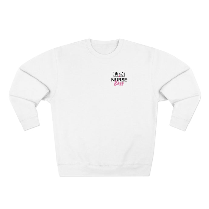 LPN NURSE BOSS PINK SWEATSHIRT