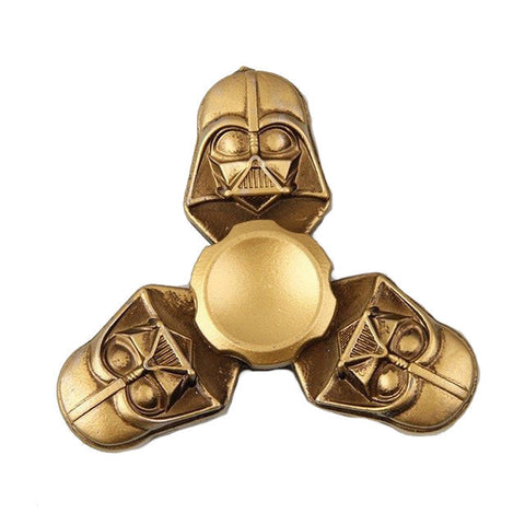 fidget spinner starwars darth vader fun kids toy gold metal on sale rare best spinner of 2017
