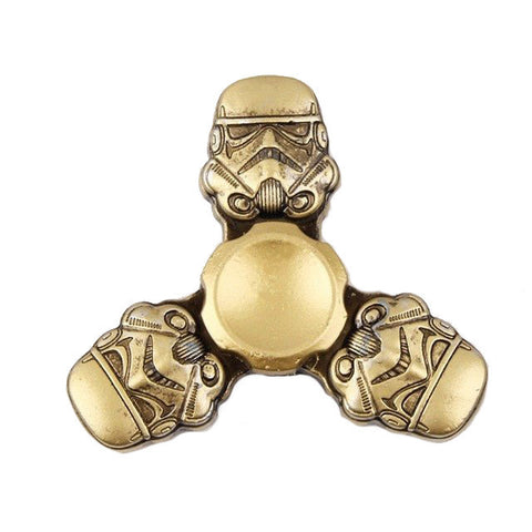 fidget spinner starwars stormtrooper fun kids toy gold metal on sale rare best spinner of 2017