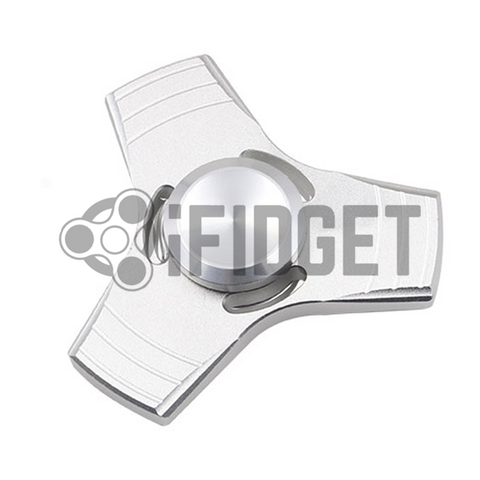 fidget spinner silver fidget toy metal fun kids toy on sale real original