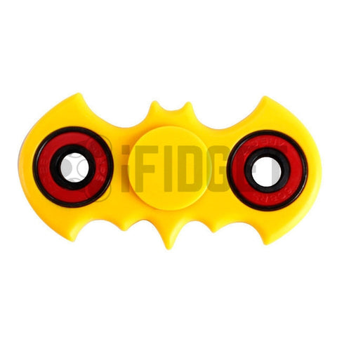 Batman Fidget Spinner Plastic Yellow On Sale 2017 Best Kids Toy Fun Stress ADHD Relief