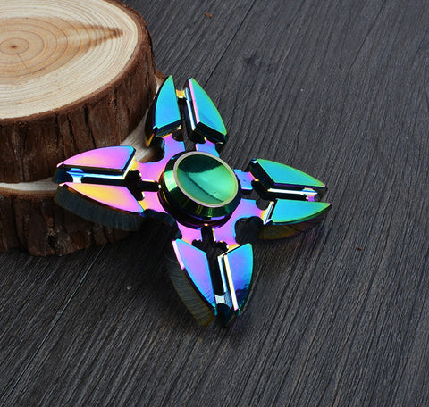 2017 Best Fidget Spinner Toy Sale - Buy Metal Fidget Spinner Star Style Rainbow Stress Relief Toy