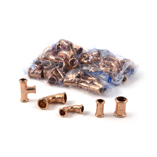 Mpress Press Fit Copper Fittings - 70 piece pack