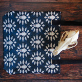 Carnivore Skull Patterned Blue Tote Bag
