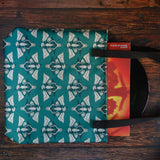 Herbivore Skull Patterned Green Tote Bag