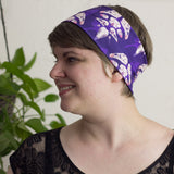 Avian Skull Patterned Purple Headband