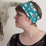 Herbivore Skull Patterned Emerald Headband