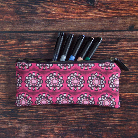 Vulture Gear carry all pouch made with durable eco canvas is portable and fits a lot of pens and drawing supplies