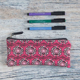 Pink pelvis flower carry all pouch perfect for carrying markers