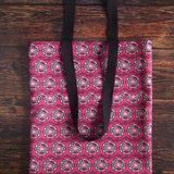 Pink Pelvis Flower tote bag made with durable eco canvas