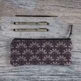 Purple carry all pouch perfect for carrying microns and paintbrushes