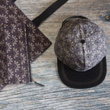 Purple bone fans carry all pouch matches hat and tote bag