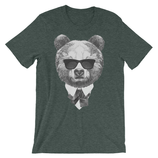 Blues Bear Unisex short sleeve t-shirt