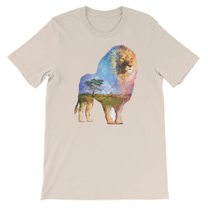 Double Exposed Lion Unisex short sleeve t-shirt - CalvinMade