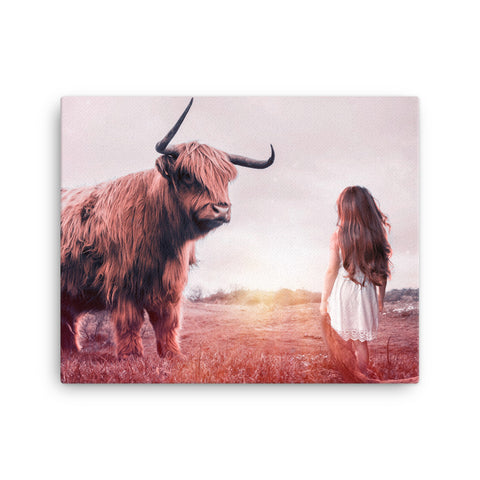 Image of Girl vs Nature Canvas
