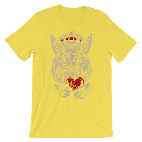 Image of Lion Hearted Unisex short sleeve t-shirt - CalvinMade