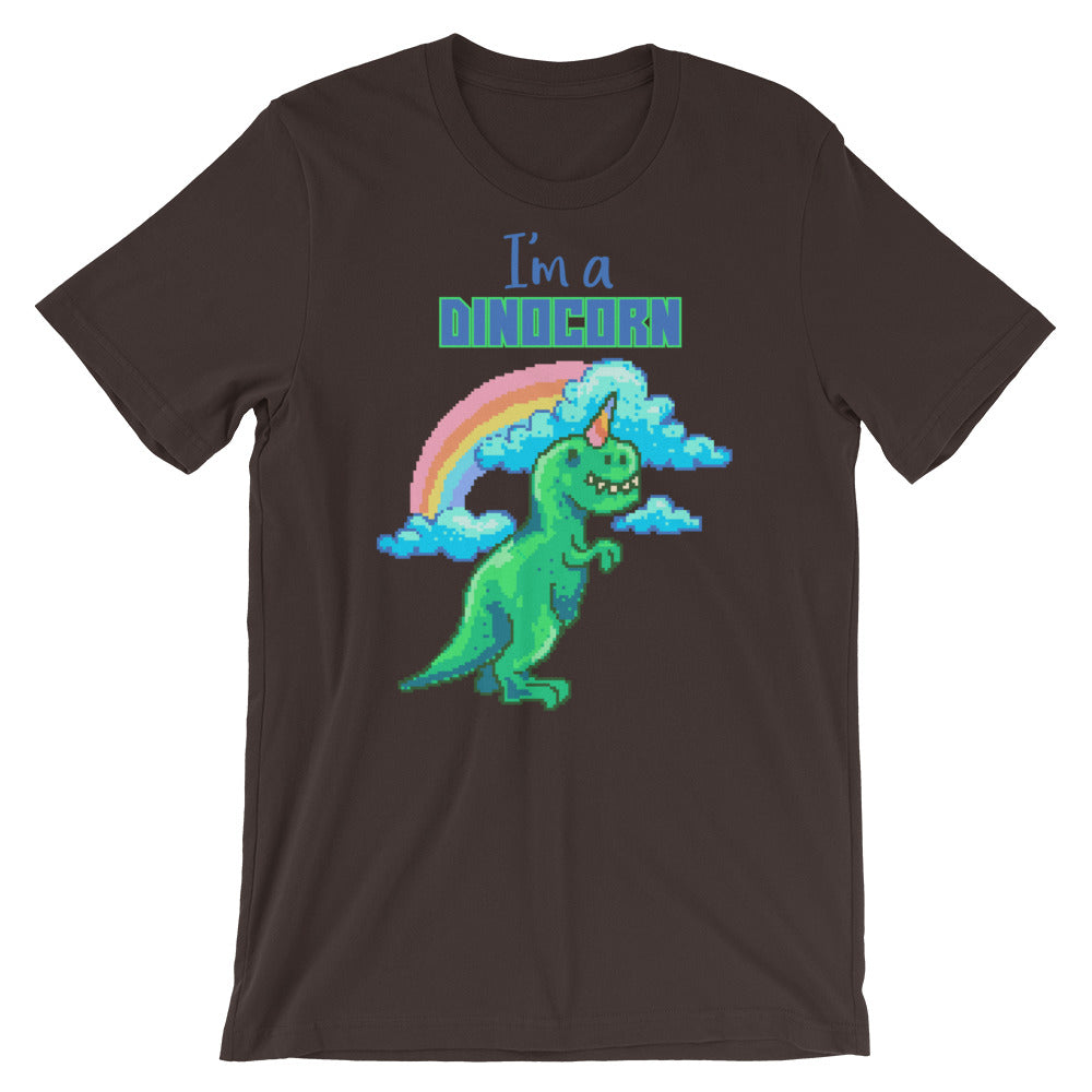 Retro Dinocorn Short-Sleeve Unisex T-Shirt