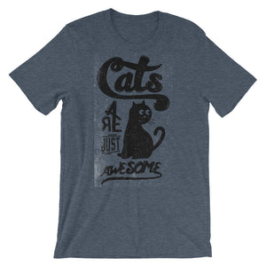 Cats are Awesome Unisex short sleeve t-shirt - CalvinMade
