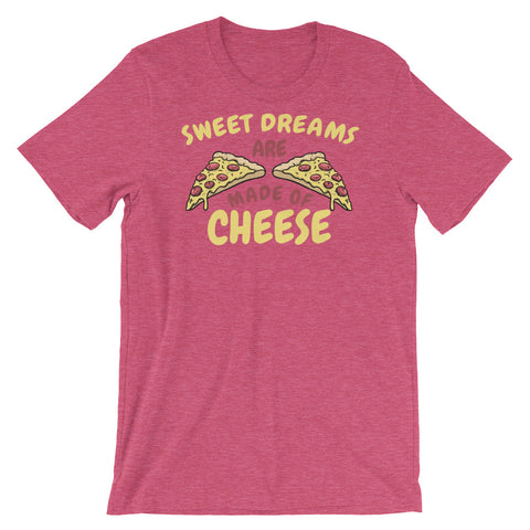 Image of Sweet Dreams are made of Cheese Short-Sleeve Unisex T-Shirt - CalvinMade