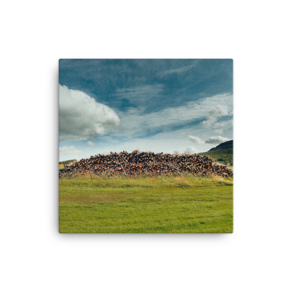 Wood Pile Canvas - CalvinMade