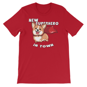 New Super Hero in Town Unisex short sleeve t-shirt - CalvinMade