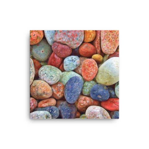 Image of Colored Rocks Canvas