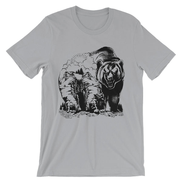 Mountain Bear Unisex short sleeve t-shirt - CalvinMade