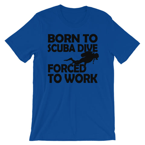 Image of Born to scuba dive Unisex short sleeve t-shirt - CalvinMade