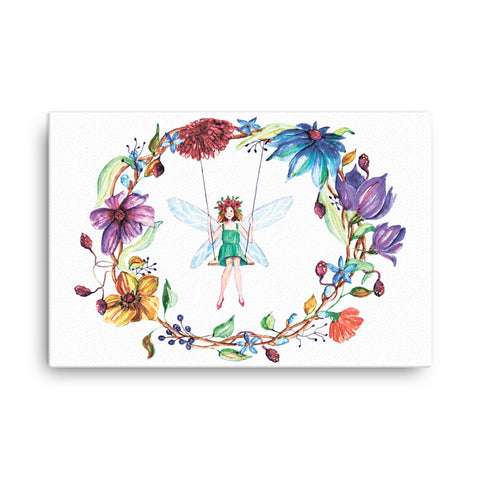 Image of Fairy flowers Canvas - CalvinMade