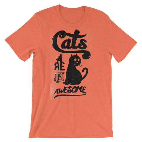 Image of Cats are Awesome Unisex short sleeve t-shirt - CalvinMade