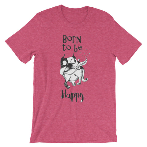 Image of Born to be Happy Unisex short sleeve t-shirt - CalvinMade