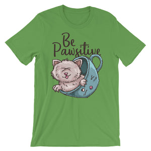 Retro Be Pawsitive Short-Sleeve Unisex T-Shirt