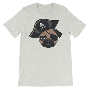 Pirate Pug Unisex short sleeve t-shirt - CalvinMade