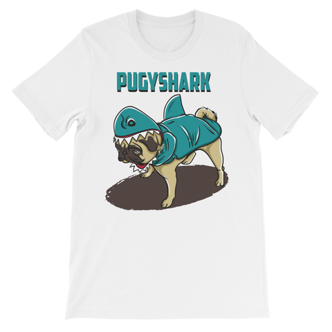 Image of Pugy Shark Unisex short sleeve t-shirt - CalvinMade