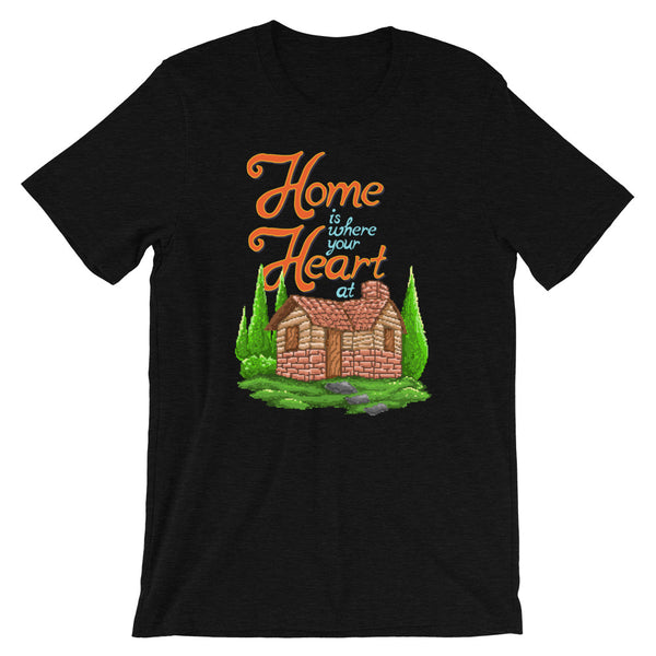 Retro Home is where your Heart is Short-Sleeve Unisex T-Shirt