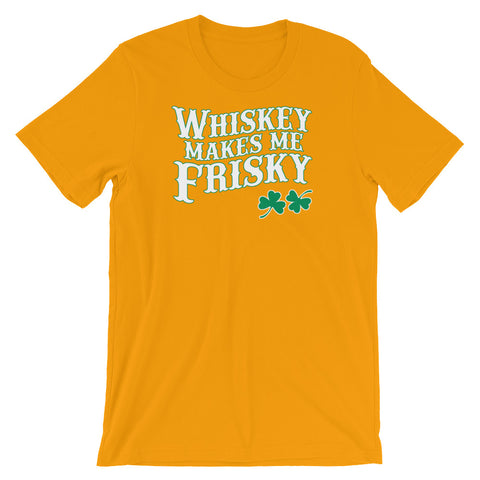 Image of Whisky Makes me Frisky Unisex short sleeve t-shirt - CalvinMade