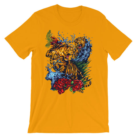 Image of Tiger Fight Unisex short sleeve t-shirt - CalvinMade