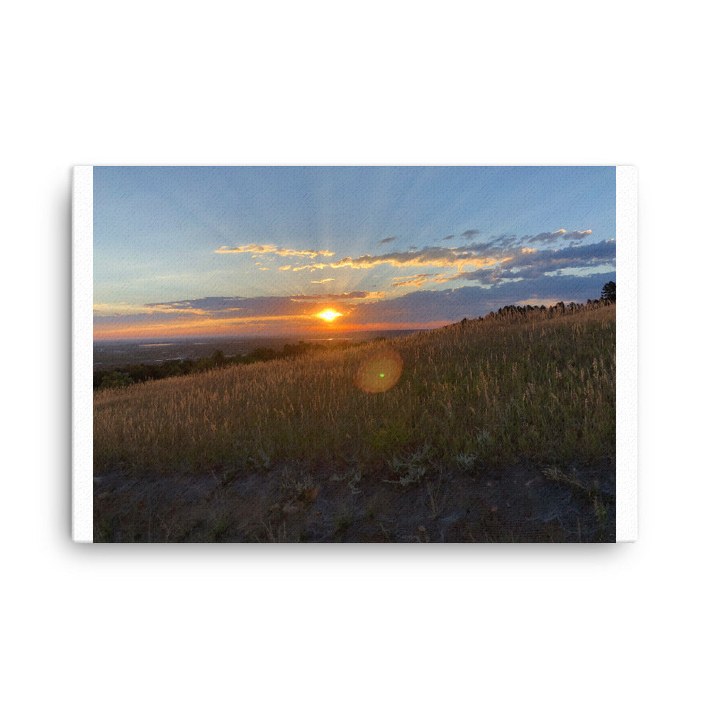 Boulder Colorado Sunset Canvas - CalvinMade