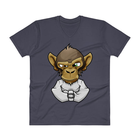 Image of Mad Monkey V-Neck T-Shirt - CalvinMade