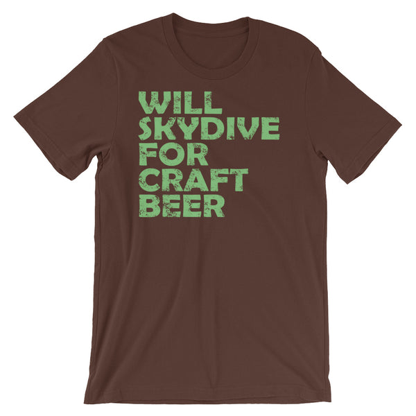 Will SkyDive for Craft Beer Unisex short sleeve t-shirt